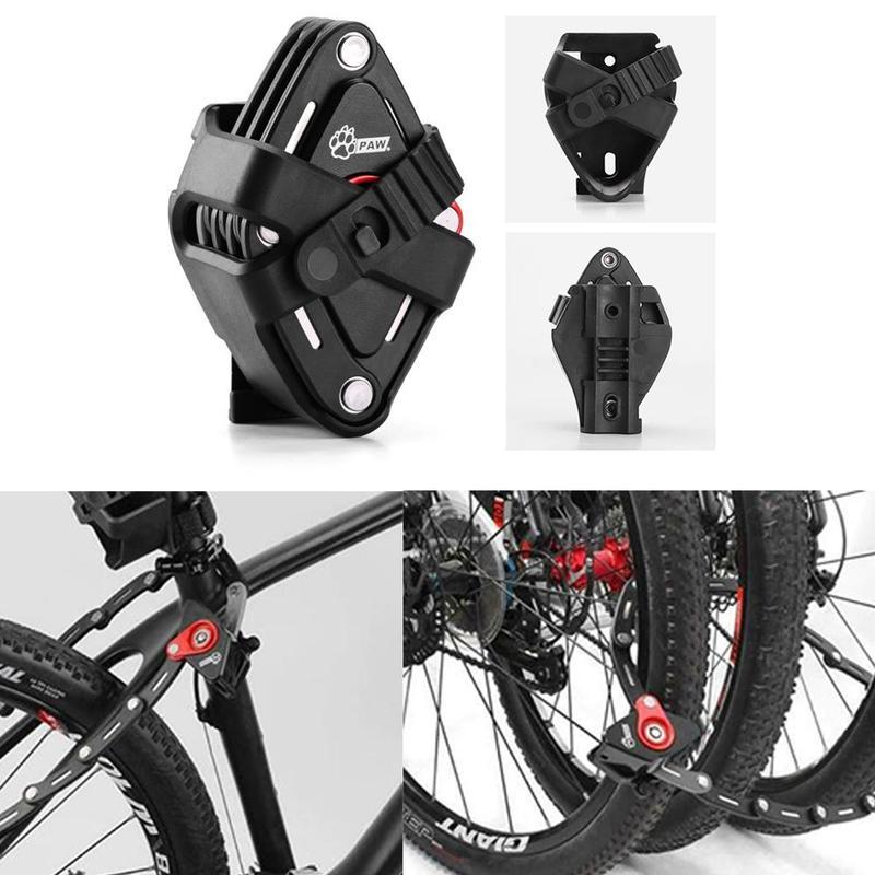 Patte pliable vélo serrure avec 2 clés forte sécurité antivol vélo serrure alliage support de montage montagne route vélo serrure 83 CM