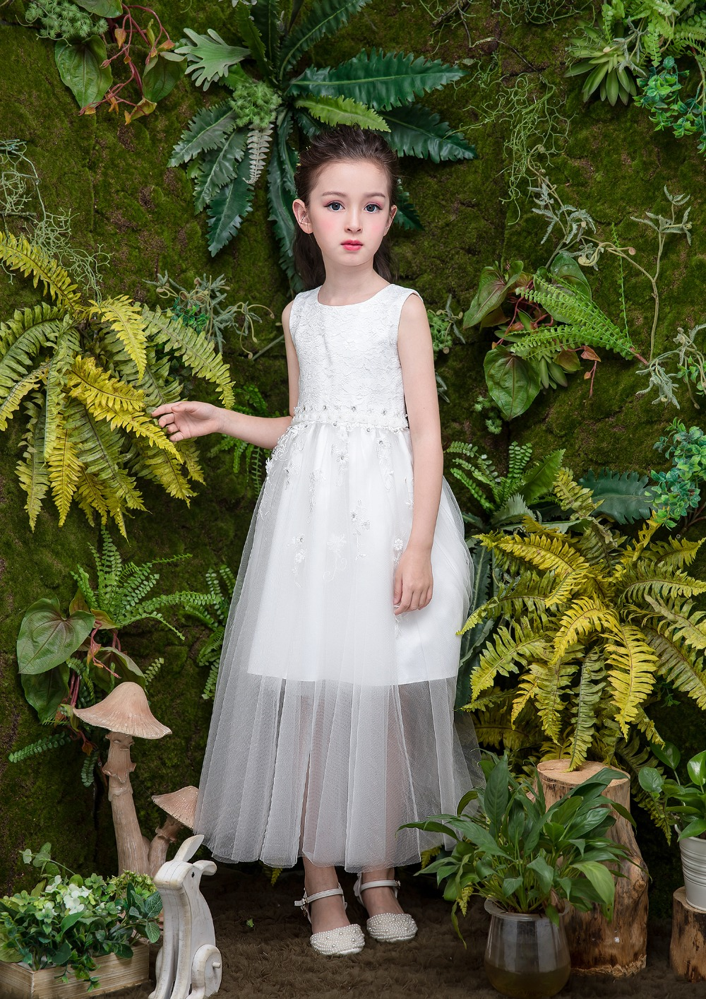 Girls Long Dress Fashion Trend Casual Dress for Girl Tunic Lace Floral Summer Maxi Dress Kids Party Princess Dresses купить недорого в Москве