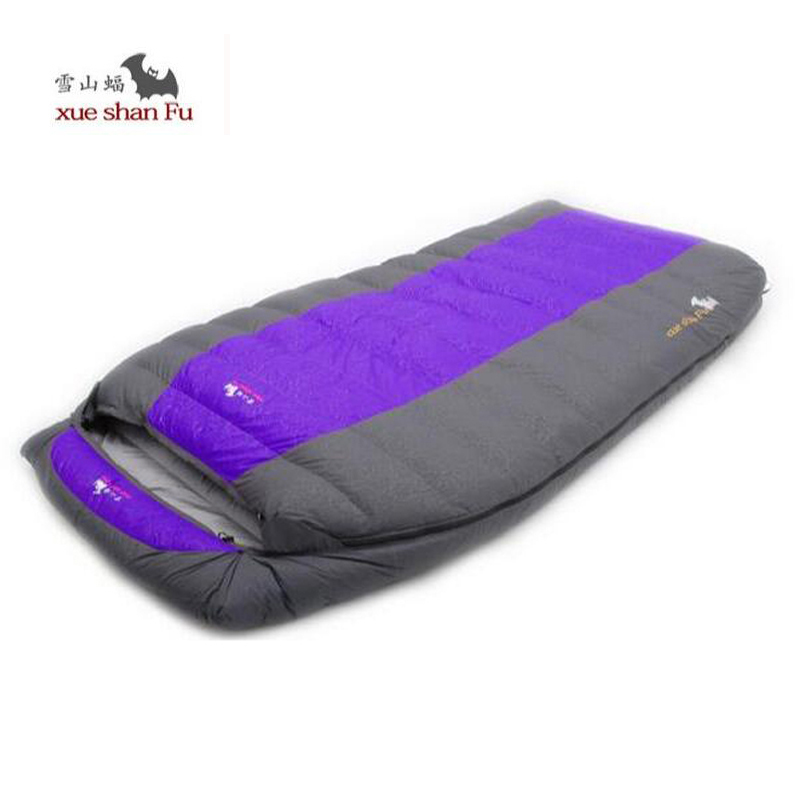 Camping Sleeping Bag Adult Winter Fill 2500g 3000g 3500g 4000g Duck Down Double Sleeping Bag for