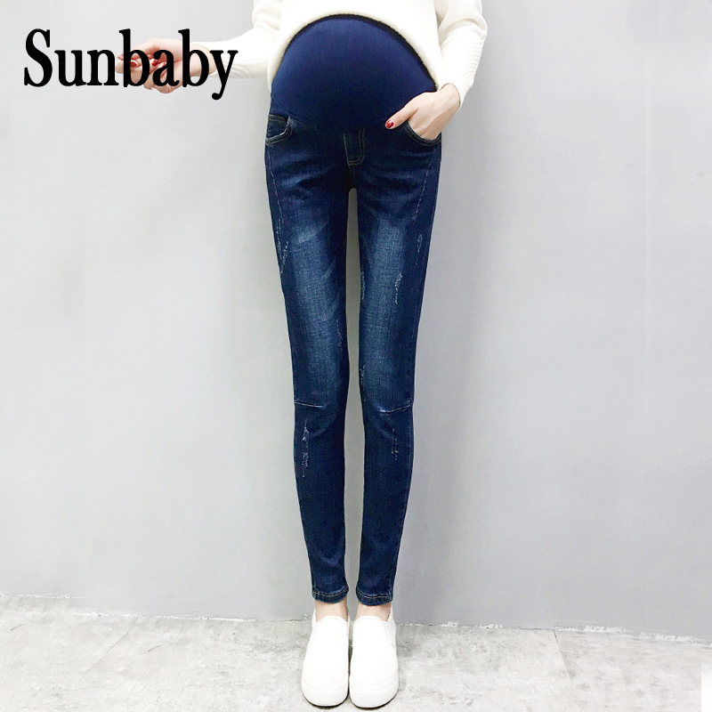 2017 Winter Fashion Trousers For Pregnant Women Functional Adjustable Jeans Maternity Pregnancy Casual Jeans