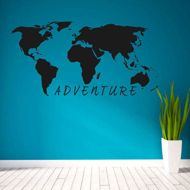 Buckoo hot wall stickers adventure world map wall stickers home buckoo hot wall stickers adventure world map wall stickers home decor living room diy removable vinyl gumiabroncs Image collections