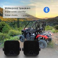 Altavoces impermeables con Bluetooth para motocicleta, sonido de música estéreo para coche, 4 pulgadas, resistente, para exteriores, ATV, UTV, barco