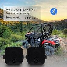"Motorrad Bluetooth Lautsprecher Marine Wasserdichte Auto stereo Audio 4 ""Heavy Duty Outdoor Lautsprecher Für ATV UTV Boot Musik Sound"