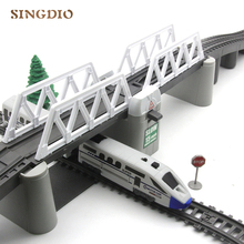 Electric Toy Train Track High Way Kids Train Model Toy Train for Kids Gift Christmas Long Track Set with Light Children's Toys стоимость