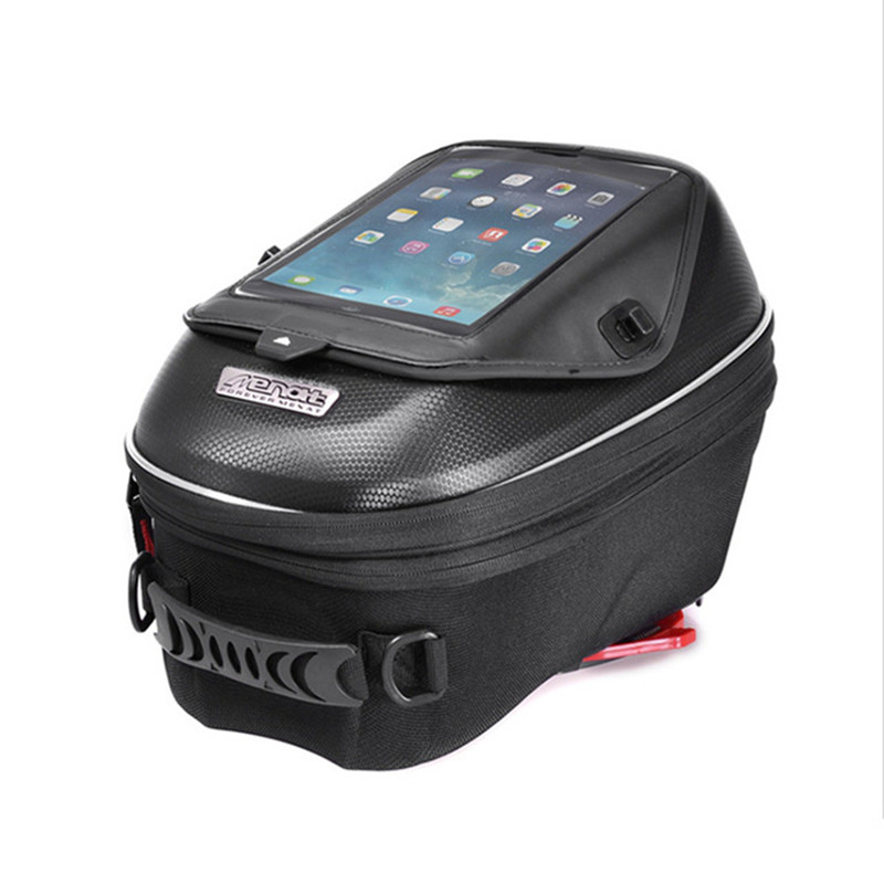 цена Waterproof Motorcycle Tank Bag Black Oil Fuel Tank Bag Universal Luggage Motorbike Bags Chuck Base Oxford Saddle Bags for Yamaha