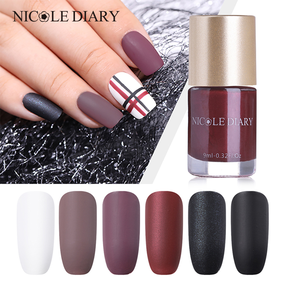 Nicole Diary 9ml Matte Nail Polish Pashm Series Nail Varnish Quick