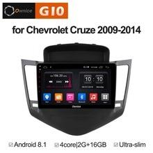 9 Inch Android 8.1 Quad 4Core 2GB RAM+16GB ROM Car DVD Player For Chevrolet Cruze 2009-2014 GPS Navi Radio Stereo BT TPMS DAB+