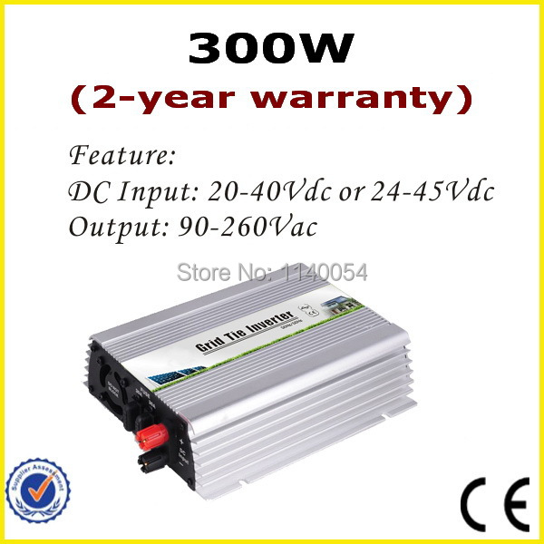 300W Grid Tie Inverter, 20-45V DC to AC 90-260V Pure Sine Wave Inverter for 24V 30V 36V Solar Module with 2-year warranty mppt solar inverter 1000w 1kw 24 45v dc input 36v solar pv grid tie pure sine wave power inverter ac output 190 260v