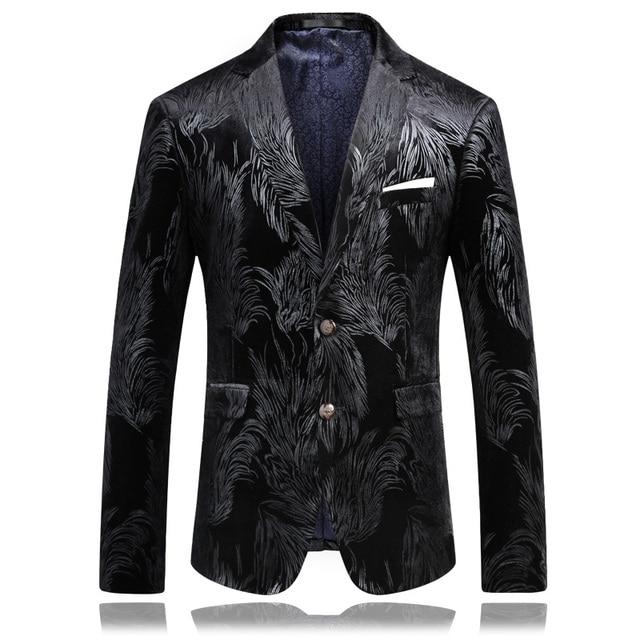 male Korean wedding groom Host clothing prom coats jacket business dress stage show nightclub magic Outdoors fashion Slim wear