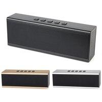 New Metal Steel Square Cube Bluetooth Speaker Radio Portable FM Portable Aluminum Alloy Stereo