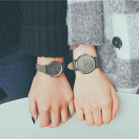 Ulzzang Women Dress Watches Luxury Lovers Couple Watches Simple Waterproof Ladies Men Leather Quartz Watch Clock Montre Homme Multan
