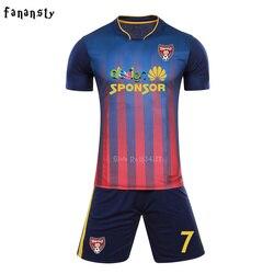 High Quality Men Soccer Jerseys Sets Adult Survetement Football 2017 Sports Kits Custom Football uniforms maillot de foot New