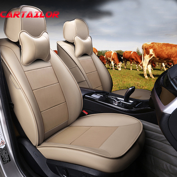 CARTAILOR Car Seat Cover Seats Covers for Subaru Forester Cover Cars Seats Protector Set Front & Rear Cowhide Leather Cover Seat