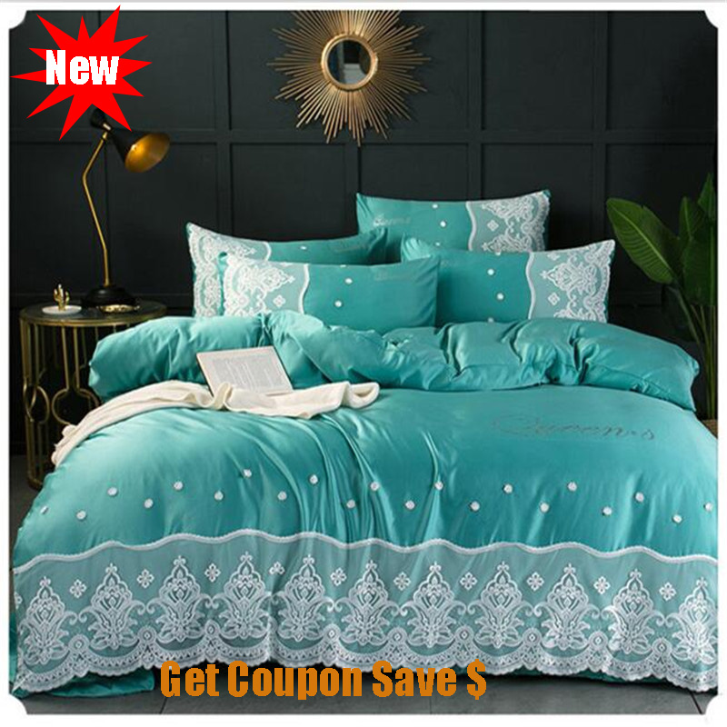 double-sided ice silk lace edge 4pcs bedskirt pillowcace duvet cover sets hot sale quilt cover mattress cover bedding sets double-sided ice silk lace edge 4pcs bedskirt pillowcace duvet cover sets hot sale quilt cover mattress cover bedding sets