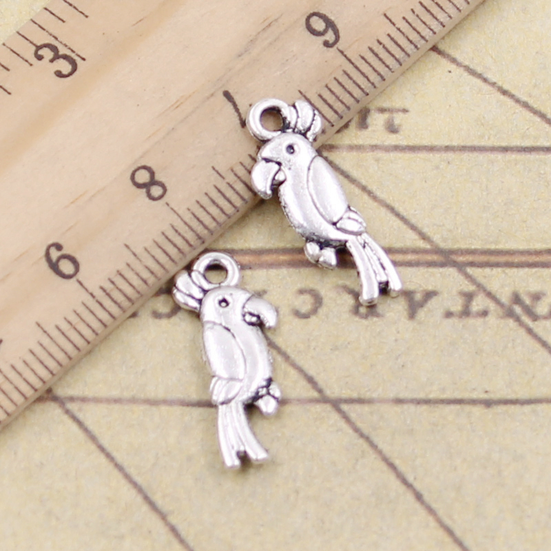 50pcs Antique Peacock Bird Charms Pendant Beads 19x12mm Jewelry Accessories