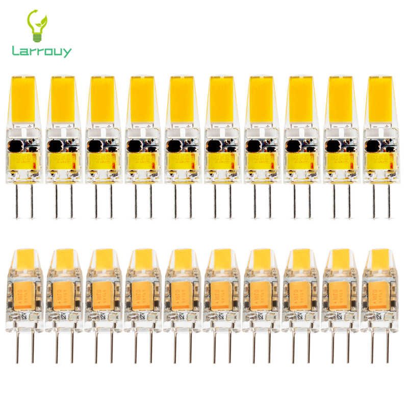 10pcs/lot G4 LED Lamp Dimmable AC/DC 12V 3W 6W LED Mini G4 COB LED Bulb 360 Beam Angle Chandelier Lamps Replace Halogen Light