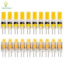 10 cái/lốc G4 Đèn LED Âm Trần AC/DC 12 V 3 W ĐÈN LED 6 W Mini G4 COB LED bóng đèn 360 Chùm Tia Góc Đèn Chùm Đèn Thay Thế Đèn Halogen