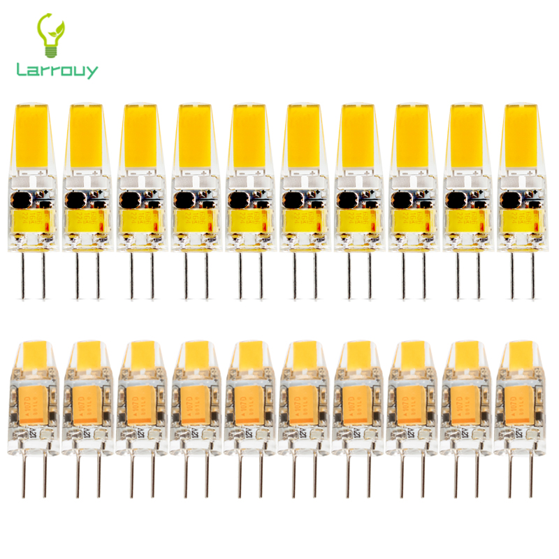1pcs 6W Dimmable G4 LED COB white Lamps 12V AC DC Lights Bulb Chandelier Lamps