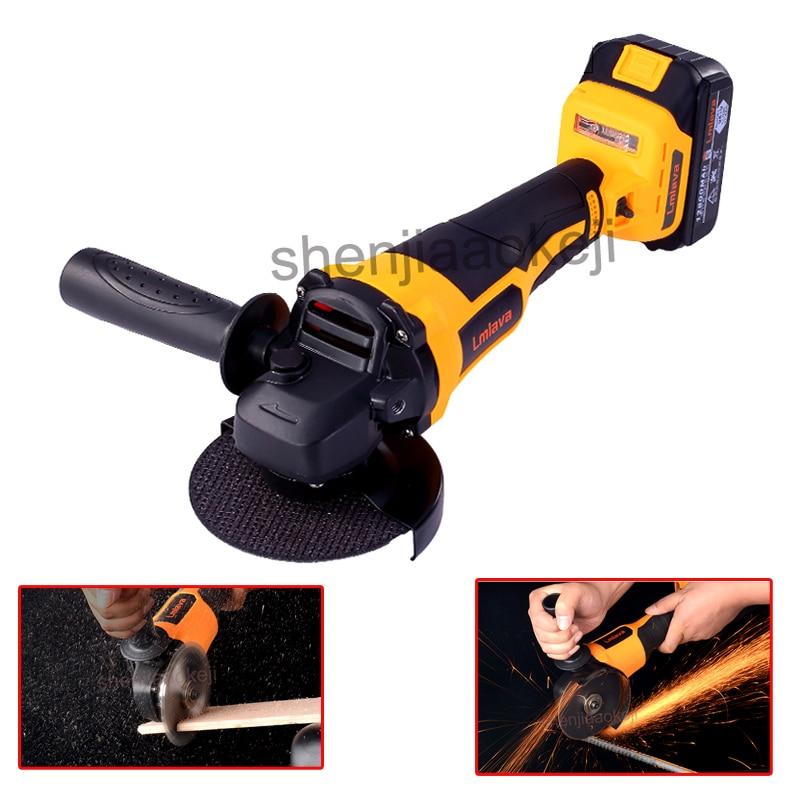 Machine de polissage d'angle multifonctionnelle 21 V meuleuse d'angle moteur sans brosse rectifieuse outil de ponçage de meulage de coupe de polissage