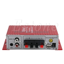 Mini Hi-Fi AMP Stereo USB Car Boat Audio Auto Power Amplifier MA-180 DC12V 2-CH