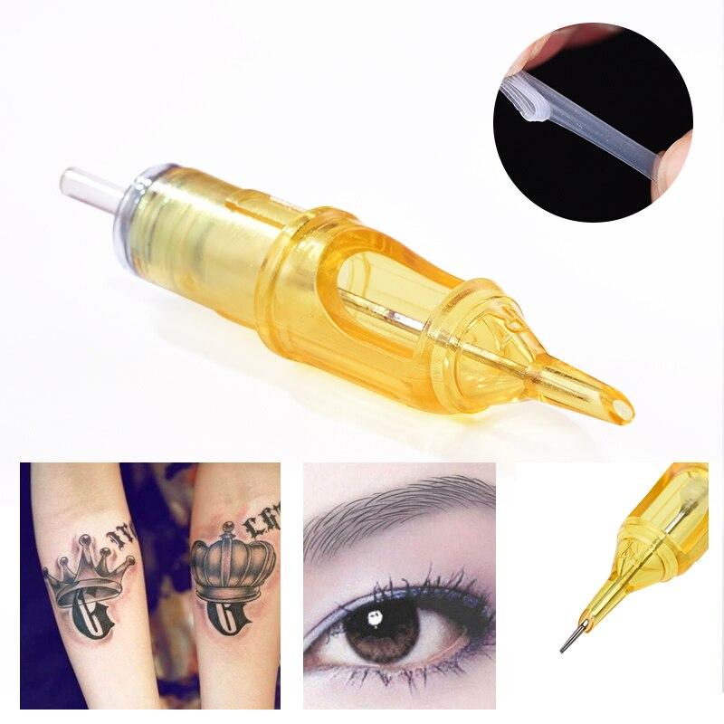 20pcs Permanent Makeup Eyebrow Hybrid Tattoo Pen Rotary Tattoo Machine Tattoo Needles Cartridges For 3D Eyebrow Lips Eyeliner все цены