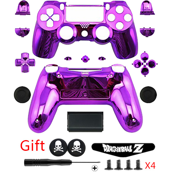 f620cb76 PS4 Luxury Purple Full Housing Shell Case Button Kit+GIFTS for PlayStation4  DUALSHOCK 4 Controller Replacement Parts