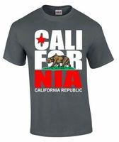 California T SHIRT California republic state Bear flag California tee