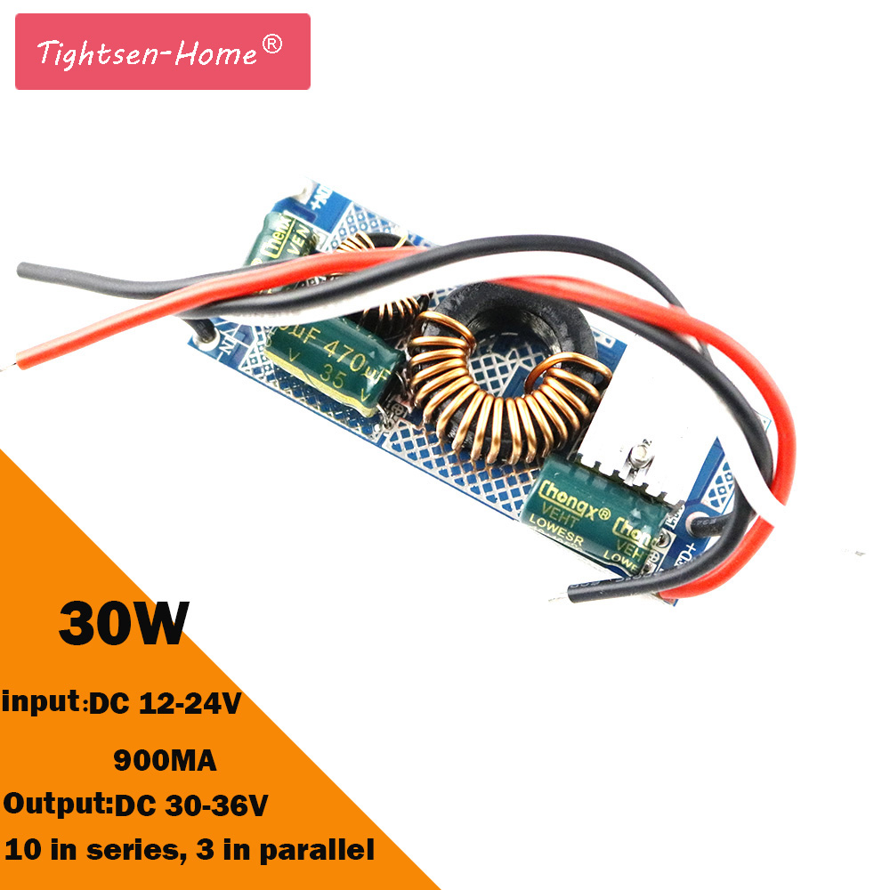 30W LED Driver Constant Current 900mA 30x1W DC 30V~36V Led Driver Power Supply DC 12-24V for LED lights Lighting Floodlight 1PC kvp 24200 td 24v 200w triac dimmable constant voltage led driver ac90 130v ac170 265v input