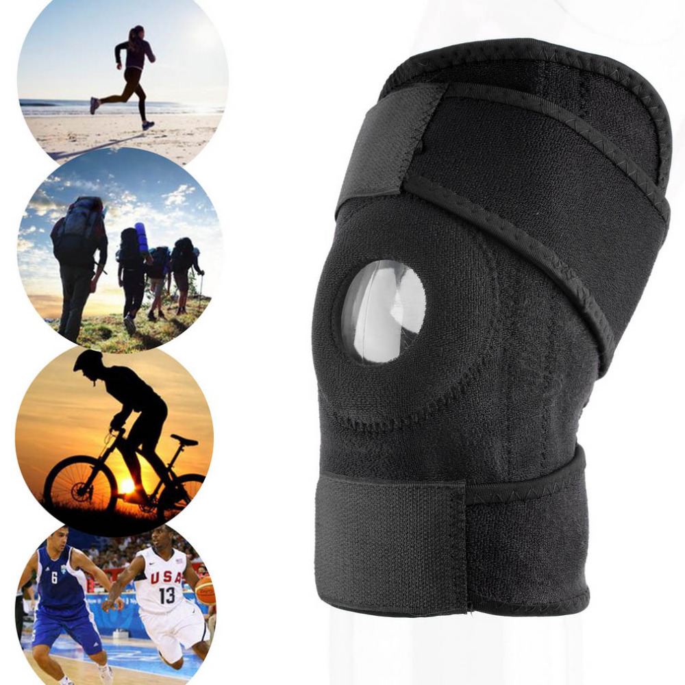 1pc knee Support Strap Brace Pad protector sport kneepad Badminton Basketball Running bull breathable