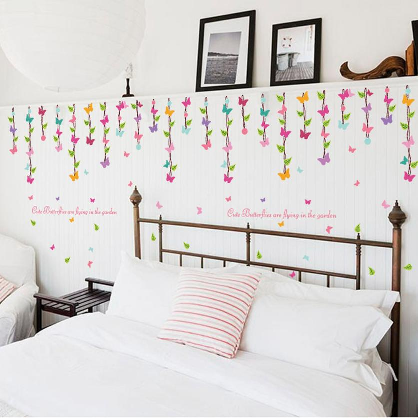 Butterfly Diy Home Decoration Accessories Butterflies Wall Decals Diy Bedroom Decorations Papel De Parede Para Quarto