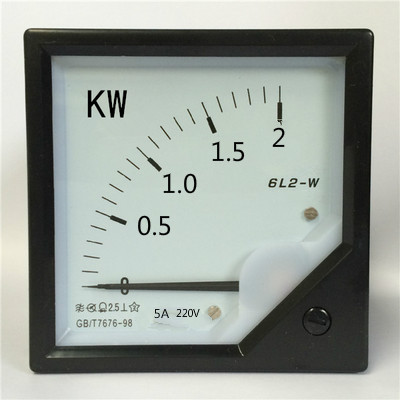 Three phase active power meter 6L2-2KW 220V 5A  80*80mmThree phase active power meter 6L2-2KW 220V 5A  80*80mm