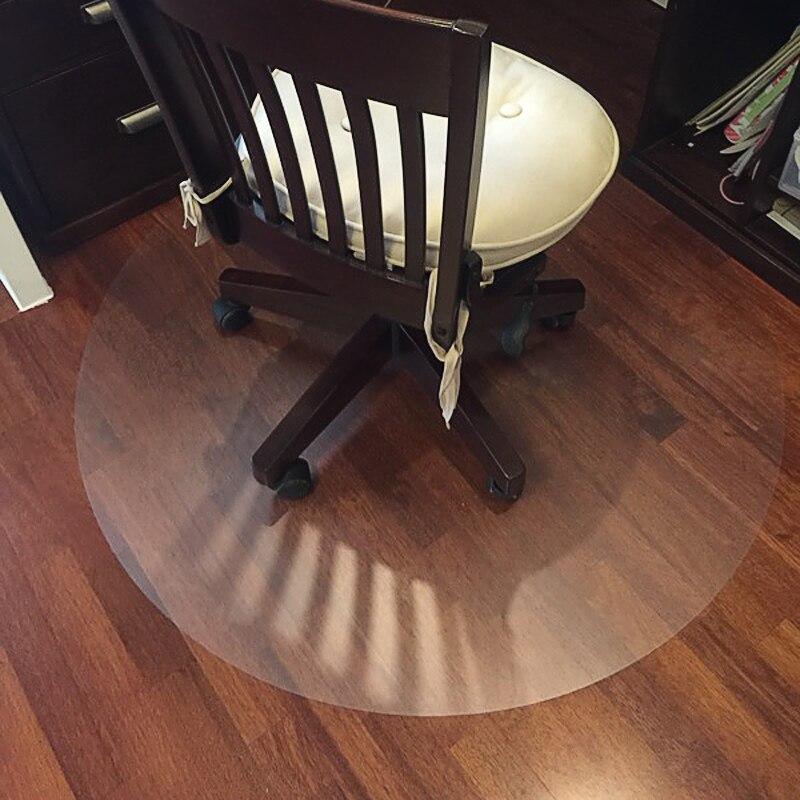 2018 nova transparente mat proteção de piso de madeira PVC piso de plástico tapete tapetes cadeira computador protetores de plástico tapete tapete redondo