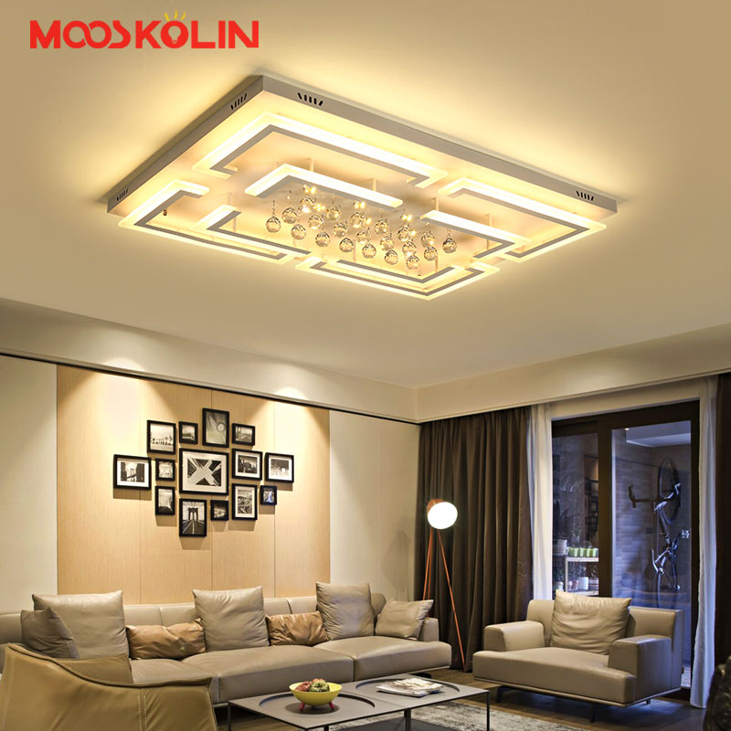 Modern Crystal LED Ceiling light Fixture For Indoor Lamp lamparas de techo Surface Mounting Ceiling Lamp For Living room Bedroom