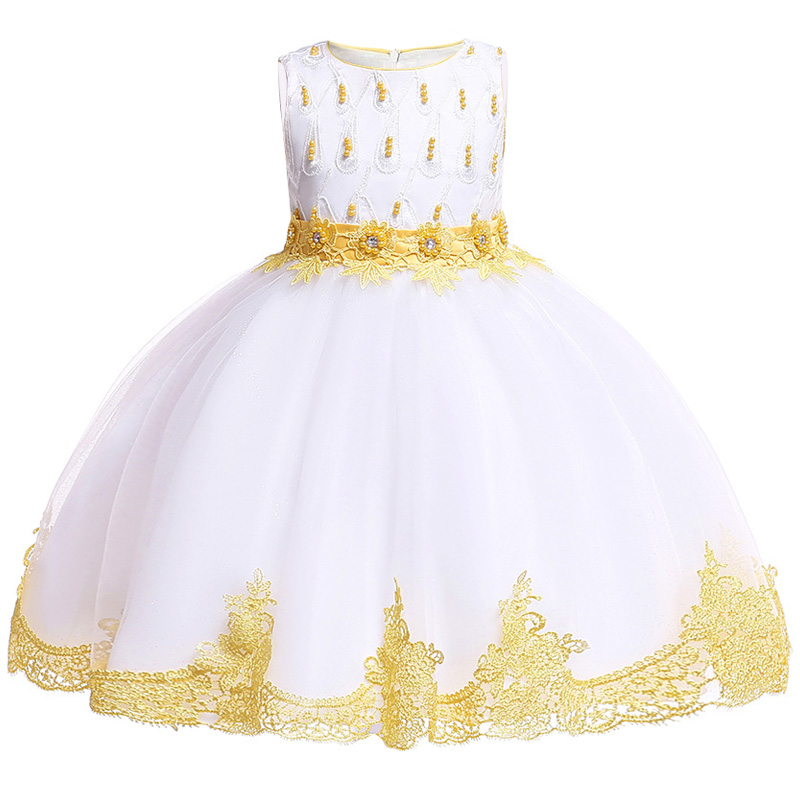Flower     Girls   Dream Wedding   Flower   Children's Party Pengpeng High-end   Dress     Girls   Attend Eucharist Campus Party Embroidery   Dress