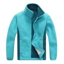 Windproof ילד מעיל בנים ובנות מעילי רך קוטב צמר חם ילדי הלבשה עליונה בגדי עבור 3 12 שנים