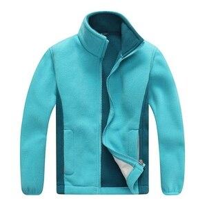 Image 1 - Windproof ילד מעיל בנים ובנות מעילי רך קוטב צמר חם ילדי הלבשה עליונה בגדי עבור 3 12 שנים