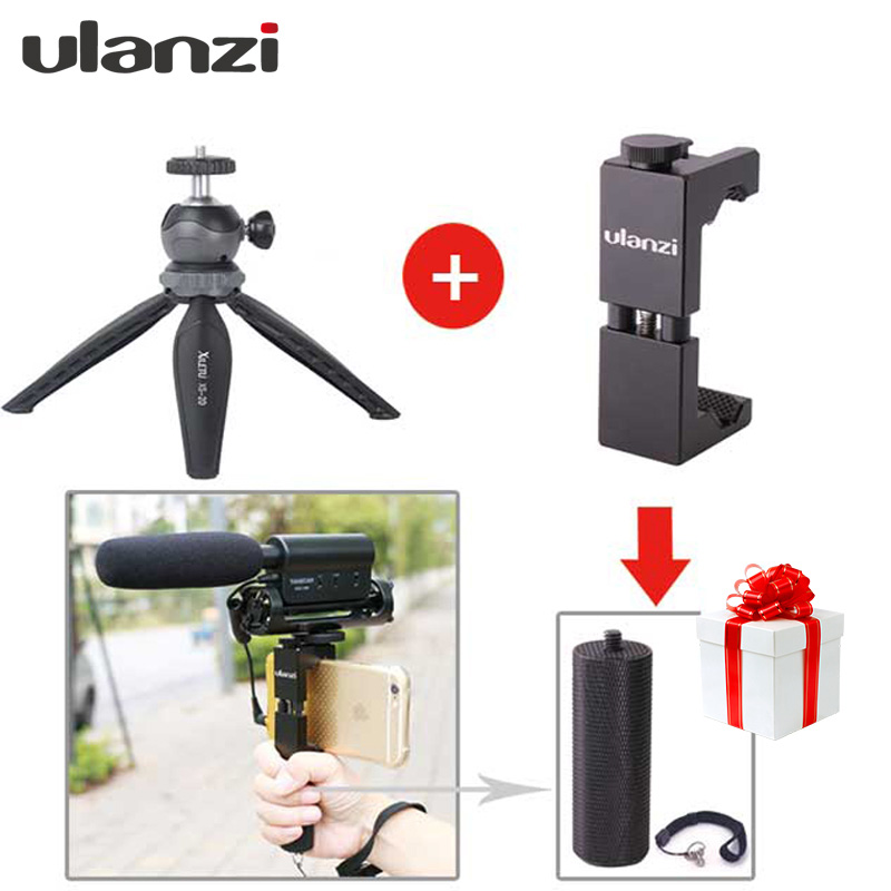 Ulanzi Multifunctional Compact Mini Tabletop Tripod with Ball head and Phone Adapter For Cellphone Facebook Twitter