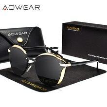AOWEAR, модные, кошачий глаз, солнцезащитные очки, женские, поляризационные, Роскошные, качественные, зеркальные, кошачий глаз, солнцезащитные очки, для девушек, UV400, защита для глаз, оттенки
