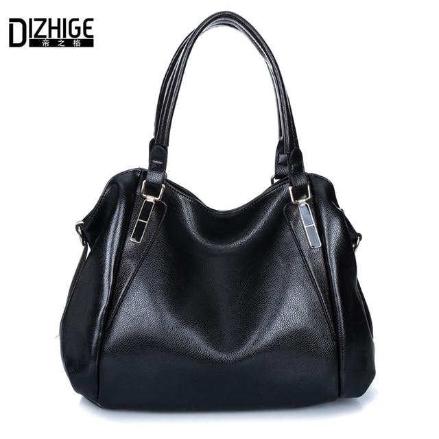 New 2016 Summer Elegant Women Handbags Pu Leather Crossbody ladies bag High Quality Woman's bag Black Bag Bolsas Femininas Sac