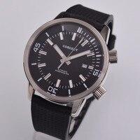 44.5 milímetros corgeut top de luxo da marca homens relógio relógio Tiras De Borracha Gaivota Homens Mecânicos Automáticos Relógio relogio masculino Relógios mecânicos     -