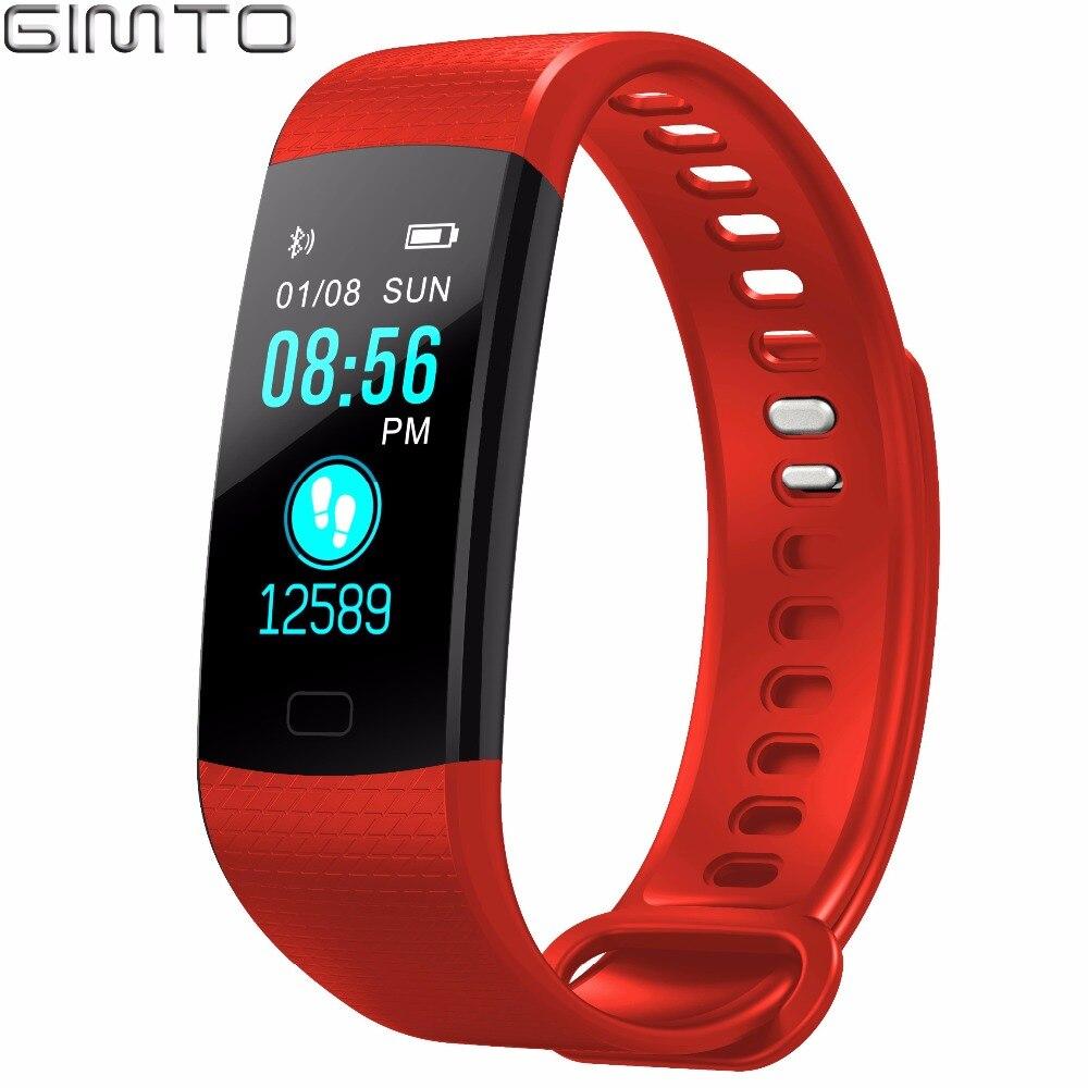 GIMTO Bluetooth Спорт умный браслет для женщин мужчин дети цифровые часы водостойкие сердечного ритма приборы для измерения артериального давлен...