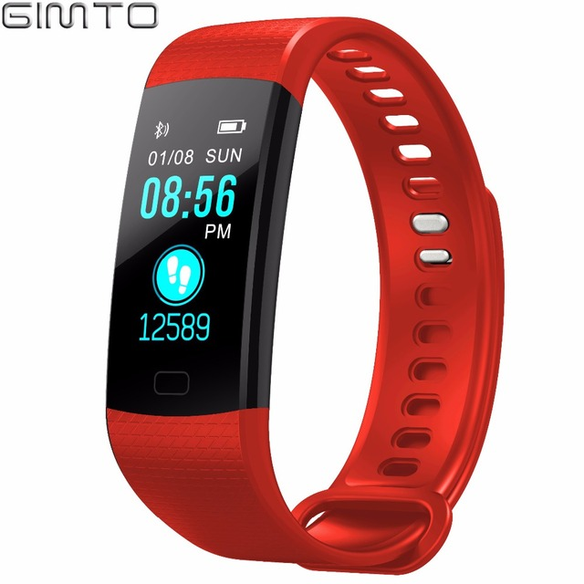 GIMTO Bluetooth Sport Smart Bracelet Women Men Children Digital Watch Waterproof