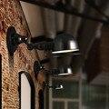 Lâmpadas de Parede de Ferro Preto clássico Decoração Arte Arandela Arandela LEVOU Luz Ajustável Estilo Do Vintage Sótão Iluminação