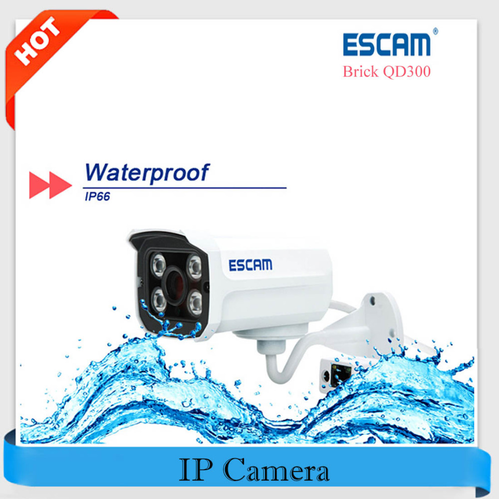 Escam Brick QD300 HD Mini Camera 720P H.264 1/4 CMOS IP Camera P2P 3.6mm Lens Night Vision Surveillance CCTV Security IP Camera network ip camera h 265 sony cmos h 264 4 0mp p2p full hd 1 8mm fisheye lens 15m ir night vision home surveillance camera 1080p