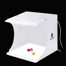New Mini Table Photo Studio Softbox with 2 LED Lights Panel+Acrylic Shadowless Panel Bottom Pad for Photography Shooting