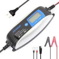 FOXSUR 6V 12V Smart Motorcycle Car Battery Charger, Winter mode & waterproof AGM GEL Battery Charger with SAE Connector
