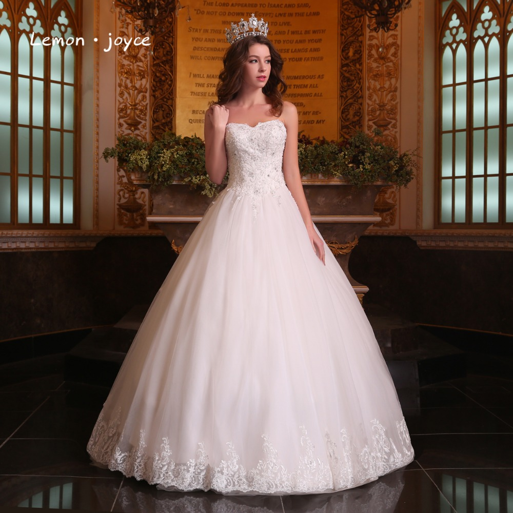 Luxury Wedding Dresses 2019 Newest Sweetheart Puffy Beading Appliques Lace Up Wedding Ball Gowns Robe De Mariage