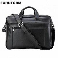 Men Leather Briefcase 17 Inch Laptop Bag Male Genuine Leather Bag Men Briefcase Handbags Multifunction Men's Travel Shoulder Bag