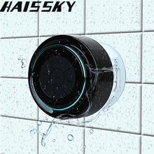 Haissky Mini Waterproof Bluetooth Speaker For iPhone 8 7 Samsung S8 Phone Laptop Shower Speaker FM Radio Hands-Free Suction Cup