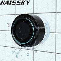 Haissky Thống Waterproof Bluetooth Speaker Cho iPhone 8 7 Samsung S8 Điện Thoại Máy Tính Xách Tay Speaker Loa Vòi Hoa Sen FM Radio Hands-Free Cốc hút